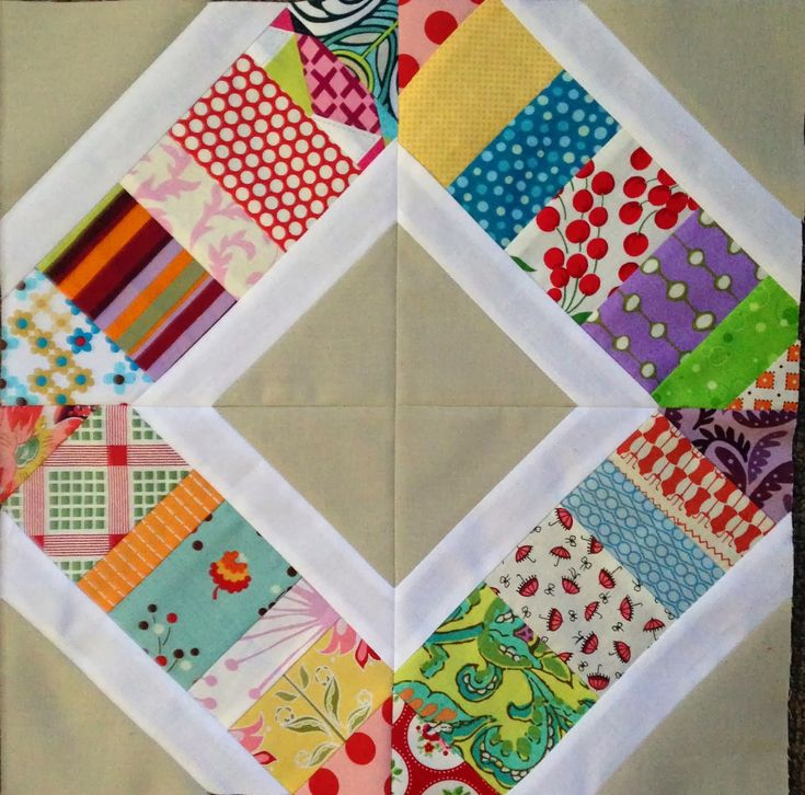 Scrappy Sandwiches quilt block tutorial | PatchworknPlay
