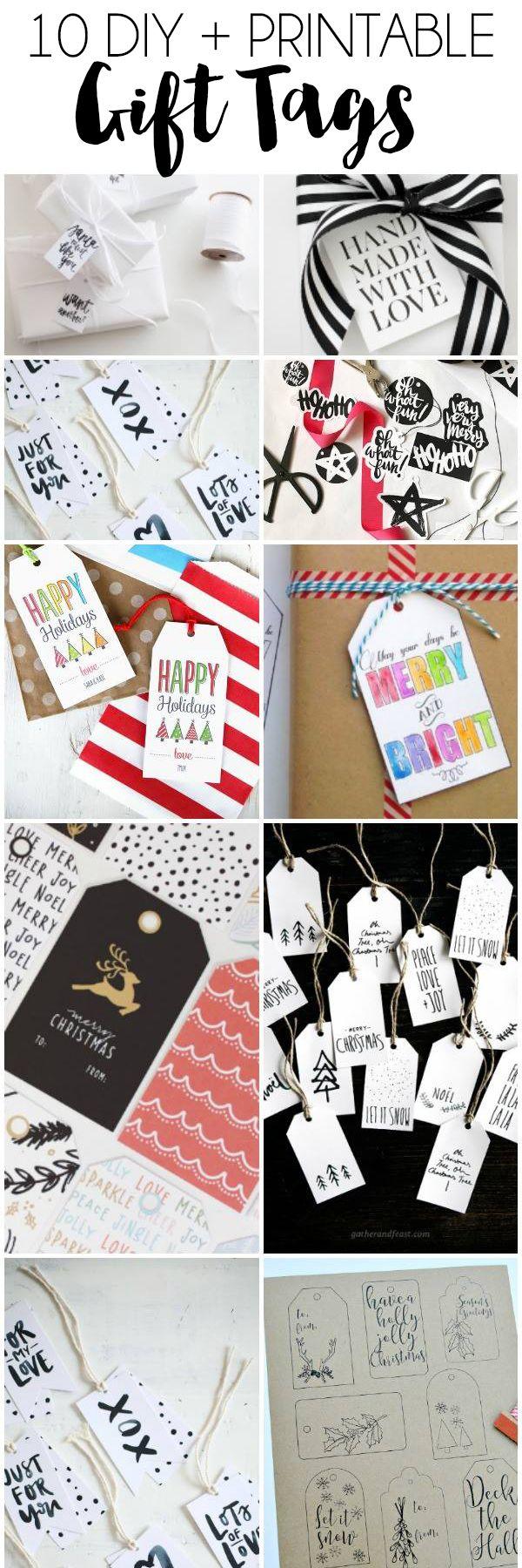 10 DIY + Printable Gift Tags   dawnnicoledesigns.com