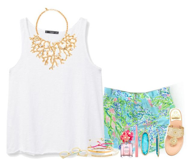 """Lilly Pulitzer "" by lovelyl4uren ❤ liked on Polyvore featuring MANGO, Kendra Scott, Kenneth Jay Lane, Jack Rogers, Christian Dior, Marc Jacobs, Tai and Monica Vinader"