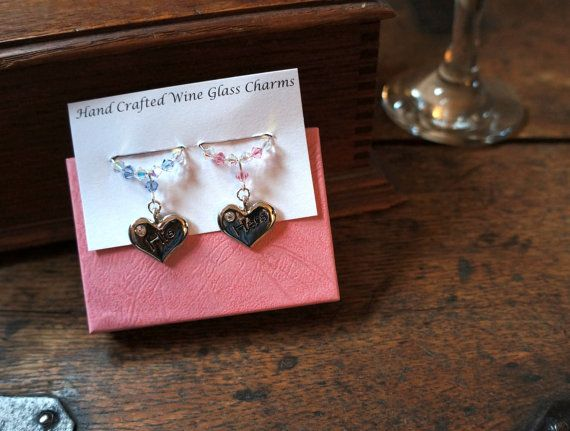 Wine Glass Charms  His & Hers Wine Glass by Makewithlovecrafts, £9.99