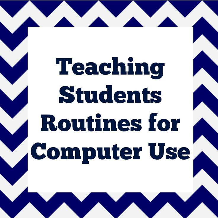 Teaching Students Routines for Computer Use These are exactly the procedures I used when I was in the elementary computer lab. All spot-on!