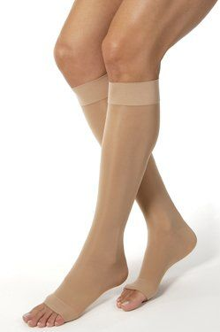 Ultrasheer 3040mmHg Open Toe KneeHigh Extra Firm Compression StockingsClassic Black MediumPair ** Check this awesome product by going to the link at the image.