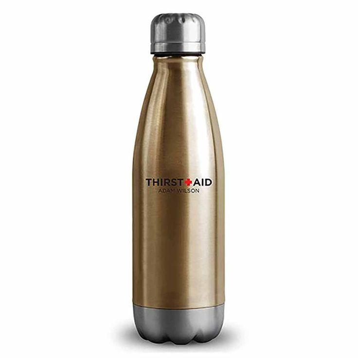 "Matte Gold ThirstAid ""Central Park"" Travel Bottle"