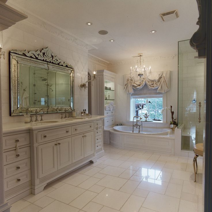Master ensuite and custom vanity for two.
