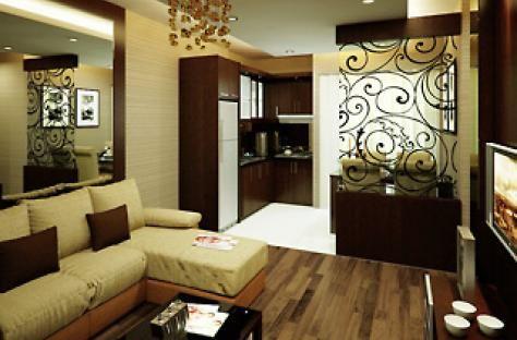 desain interior ruang tamu apartemen mungil sederhana