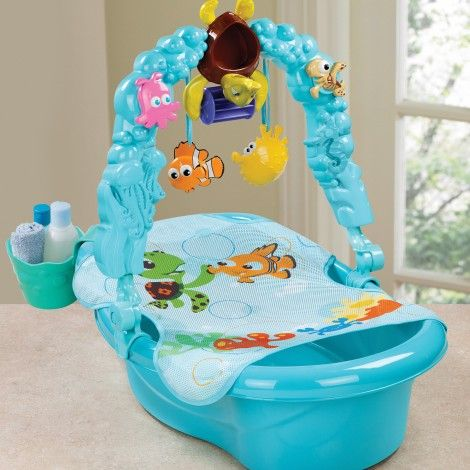 Finding nemo themed tub baby will love bathing with nemo - Finding nemo bathroom sets ...