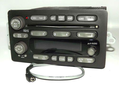 Pontiac Aztek 2004-2005 AM FM 6 Disc CD w Aux iPod Input Radio UC6 Part 10348263
