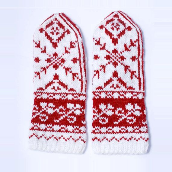 Original Selbu Mittens handmade from luxury wool by annawoolmagic, $50.00