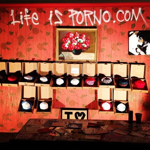 Our Life is Porno pop-up store at one of the Snowporning tour stops.