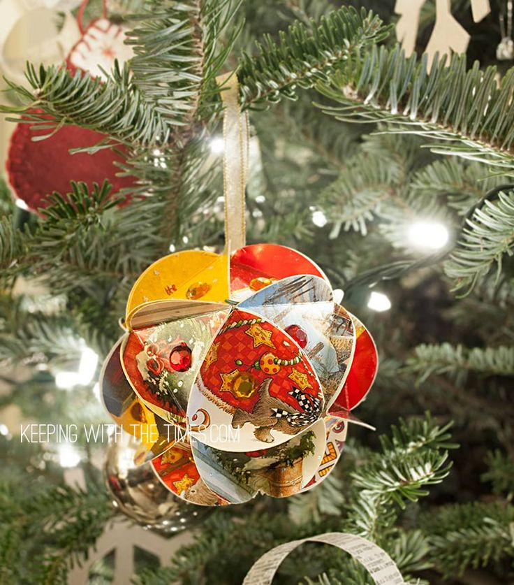 Old Christmas-Card-Globe-Ornament