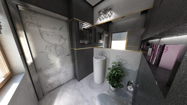 dom w stylu glamour w Myślenicach
