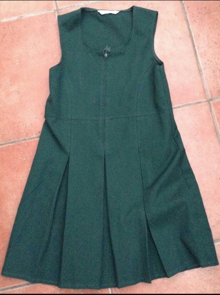 Green school uniform dress