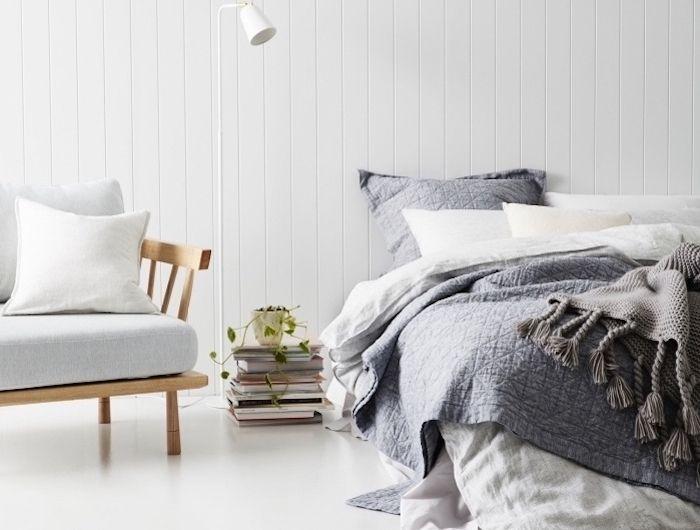 ▷ 1001 + idées pour choisir une couleur chambre adulte - couleur gris perle pour chambre