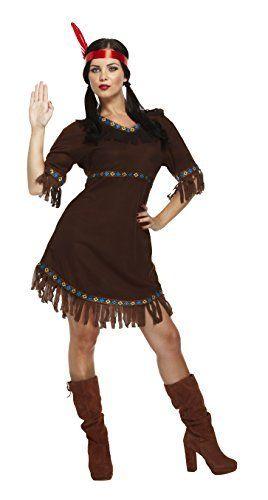 Henbrandt Damen Indianer Squaw Damen Kostum Mottoparty Karneval
