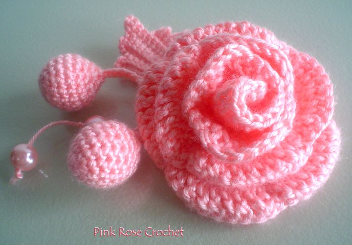 PINK ROSE CROCHET: Golinha com Flor Surprise