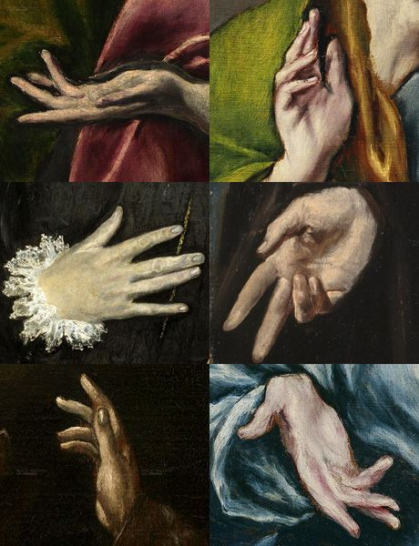 detail of works by El Greco