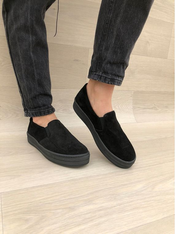 adefb265966369 LEATHER SHOES    Total Black Leather Shoes Vans Style - Christina Christi  Handmade Products
