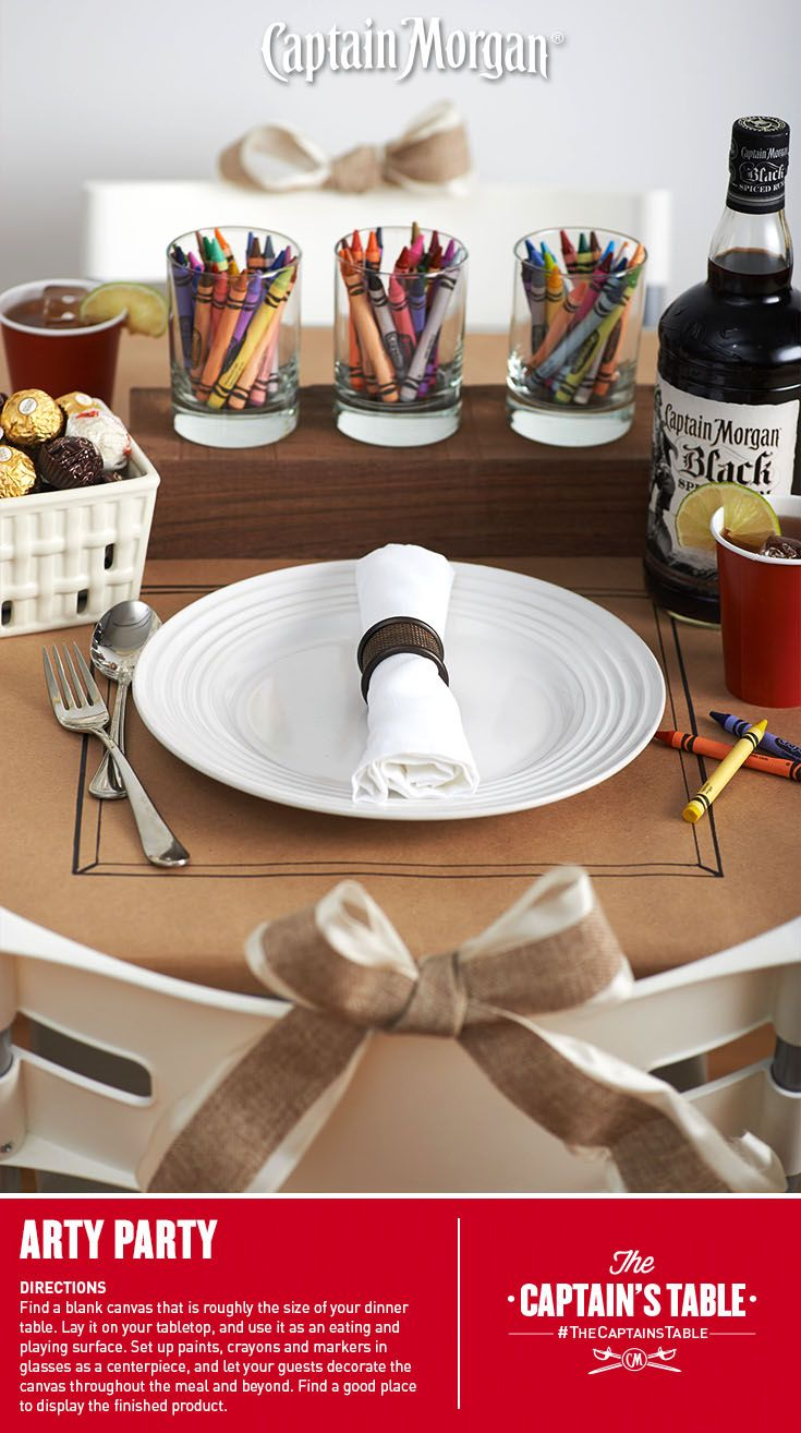 Interesting Dinner Party Ideas Part - 45: What A Fun Dinner Party Idea! #Captain #Morgan