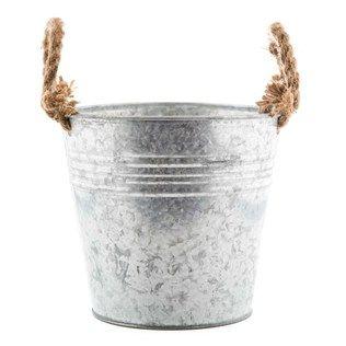 Tin Bucket with Rope Handles | Shop Hobby Lobby