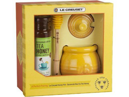 Honey Pot and Savannah Bee Company Honey Gift Set by Le Creuset at Cooking.com