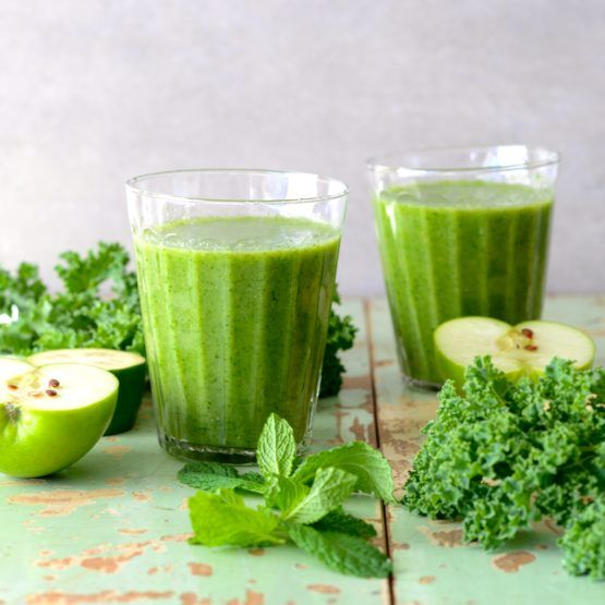 Kale, Apple and Feijoa (aka Pineapple Guava) Smoothie by Nadia Lim | NadiaLim.com
