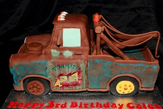 vintage tow mater birthday cake