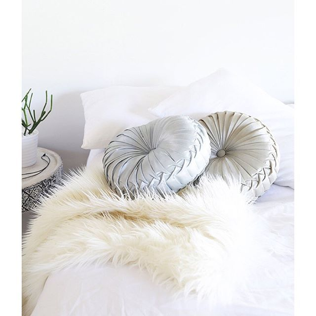 Do you have a passion for blow your socks off feature cushions? I just found these.. To find this search 'round cushion' on dtll.com.au (link in profile) #silver #gold #cushion #homedecor