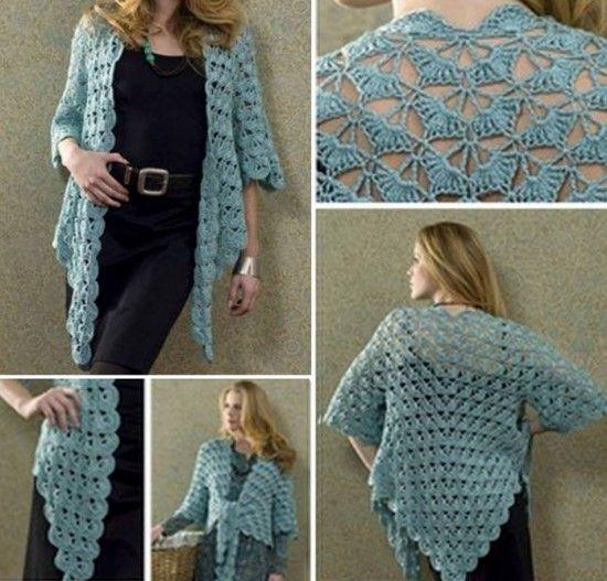 Lace Crochet Jacket Pineapple Stitch Free Pattern - Zen Lace Jacket