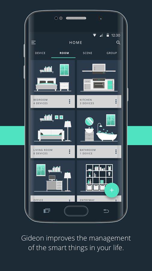 Gideon Smart Home- หน้าจอ