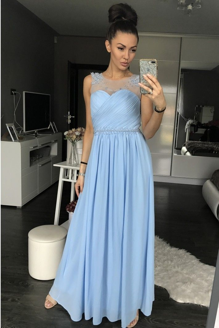 Blue evening dress EVA & LOLA