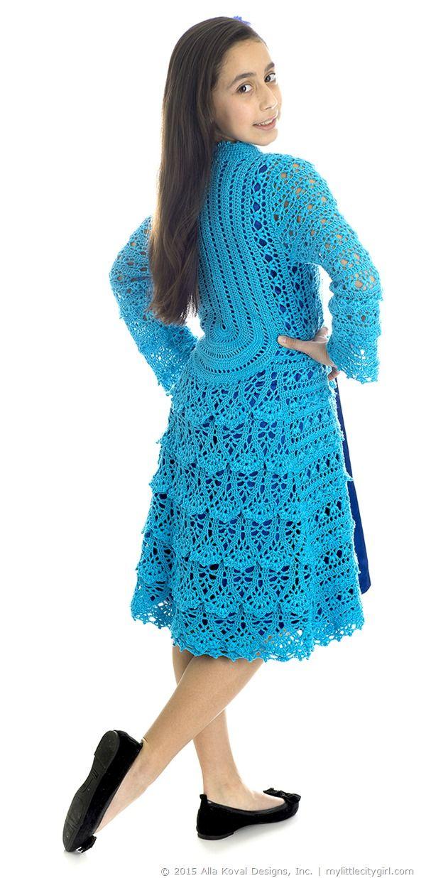 Blue Poppy Lace Coat Crochet
