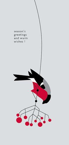 Maria Zaikina | bullfinch greeting card