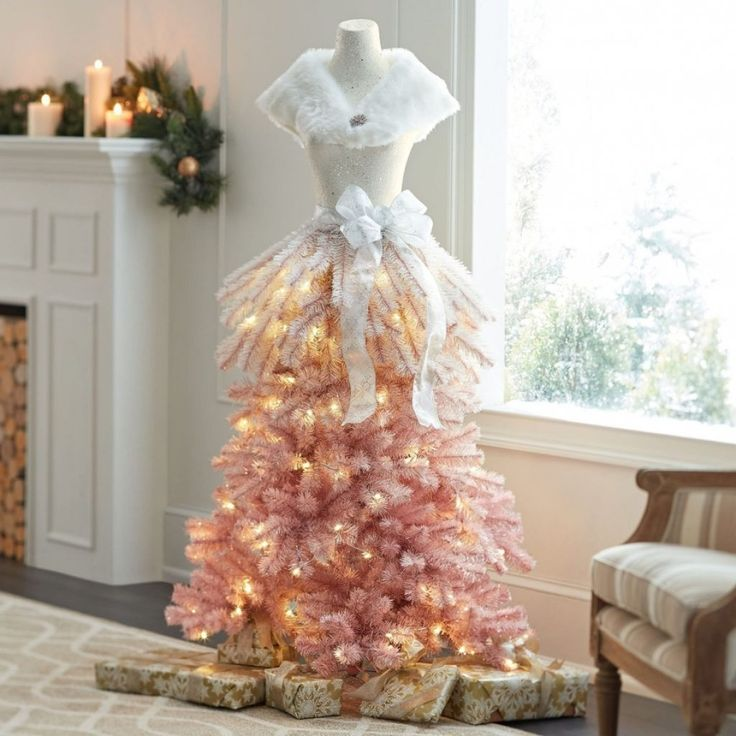 Pink dress christmas