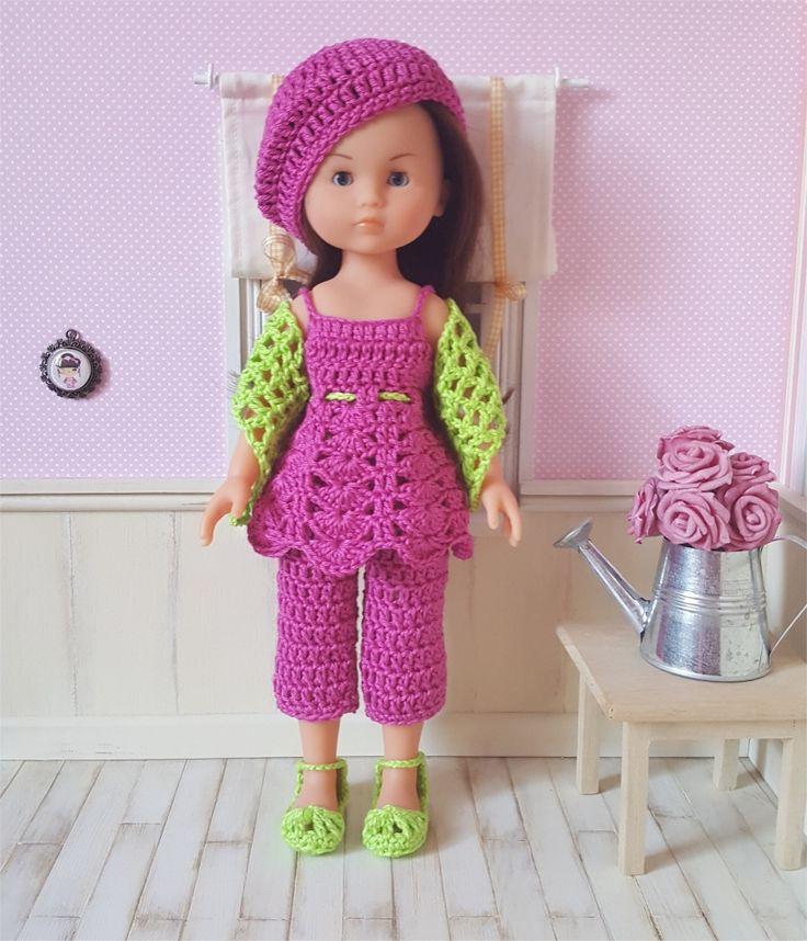 123- FICHE PATRON CROCHET Ensemble Inaya pour poupée Chéries de Corolle ou Paola Reina : Jeux, jouets par atelier-crochet