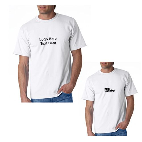 Do you need a reliable apparel for your upcoming promotional event? We bet you will never find it better than custom imprinted Gildan Adult Ultra Cotton White T-Shirts in our selection. #tshirts #promotionalitem #apparels