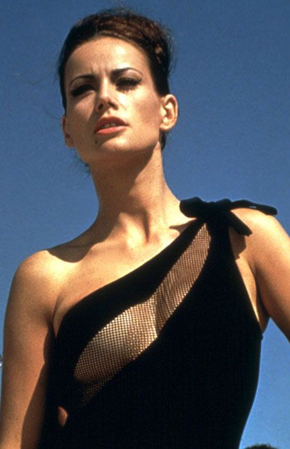 Claudine Auger as Domino in Thunderball 1965, the fourth spy film in the James Bond series starring Sean Connery as the fictional MI6 agent James Bond. Read Bond articles at: http://www.whattravelwriterssay.com/multicountrytravelindex.html