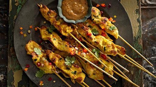 Chicken Skewers With Satay Sauce | MasterChef Australia