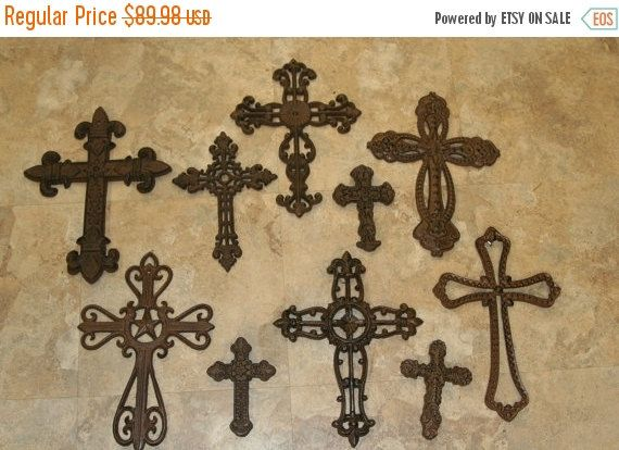 128 best Rustic Cast Iron Cross Wall Decor images on Pinterest ...