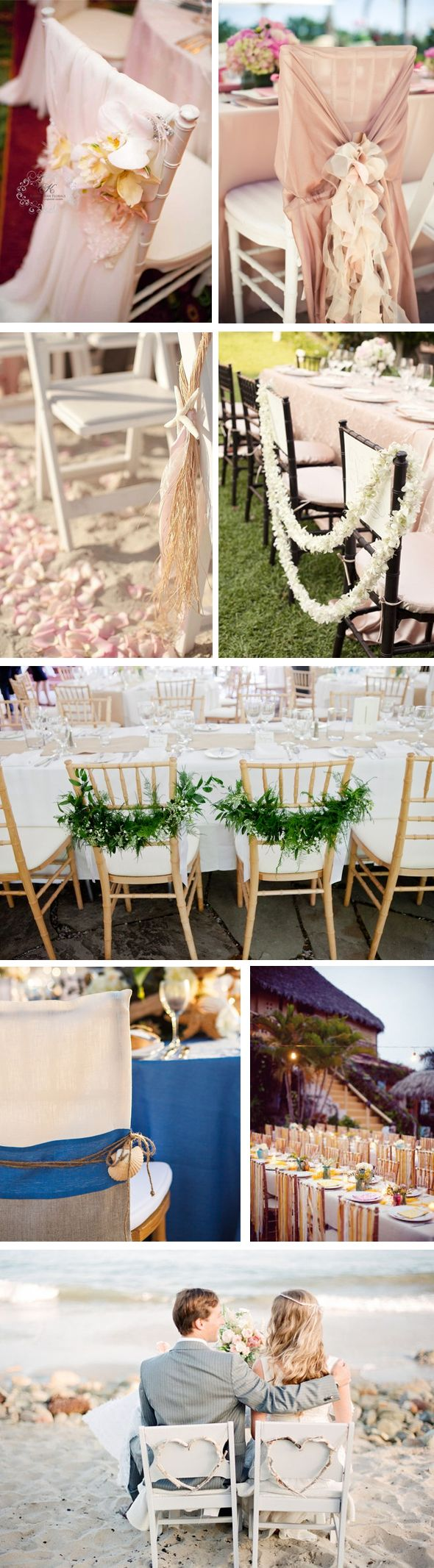 Beach wedding chair sashes - Find This Pin And More On Fun Wedding Chairs