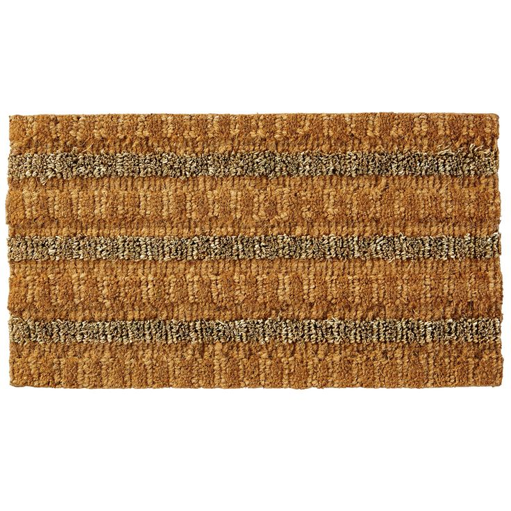 Colours Brown 50% Coir, 45% Seagrass & 5% Jute Door Mat (L)700mm (W)400mm | Departments | DIY at B&Q