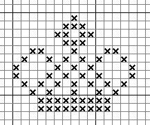 small crown cross stitch - Google Search