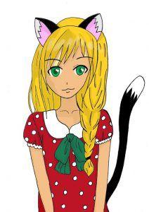 Neko girl - Manga / Anime Tutorial #manga #anime #tutorials