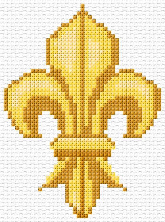 Cross Stitch | Fleur de Lis xstitch Chart | Design