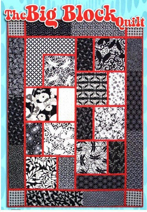 Quilt Pattern - Black Cat Creations - Big Block Quilt