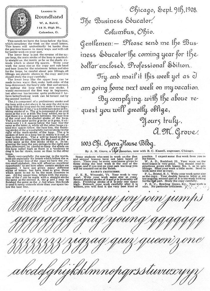 Best Engrosser Script Writing Images On   Penmanship