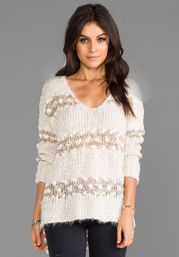 adorable pullover - love the lace stripes