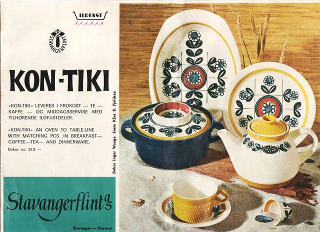 Retro Pottery Net: Stavangerstunning!- Inger Waage, Kon Tiki