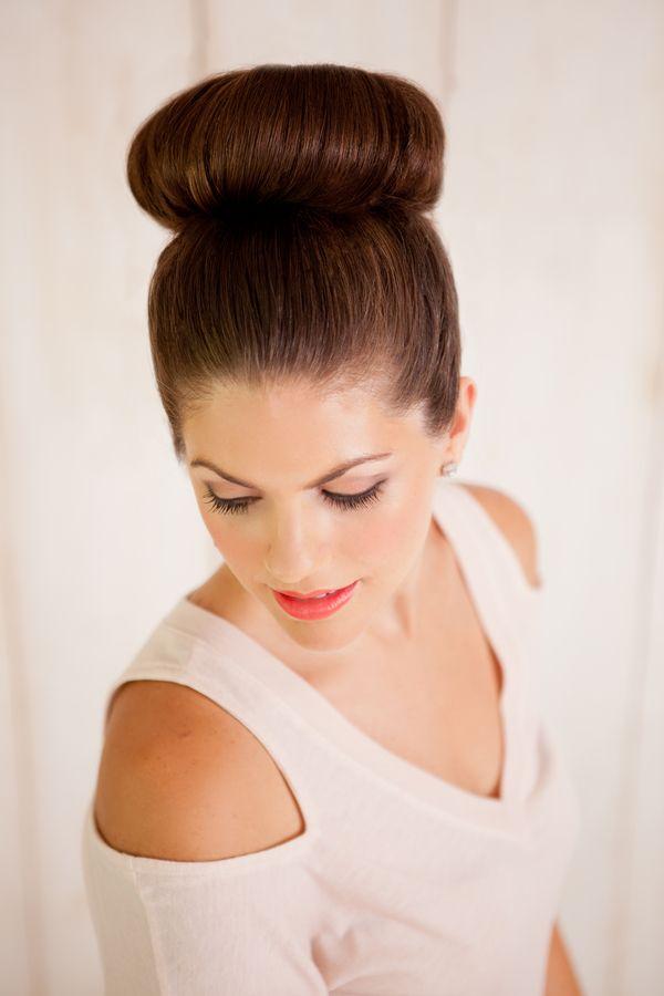 High Bun Wedding Hairstyle Tutorial via The Bride Link