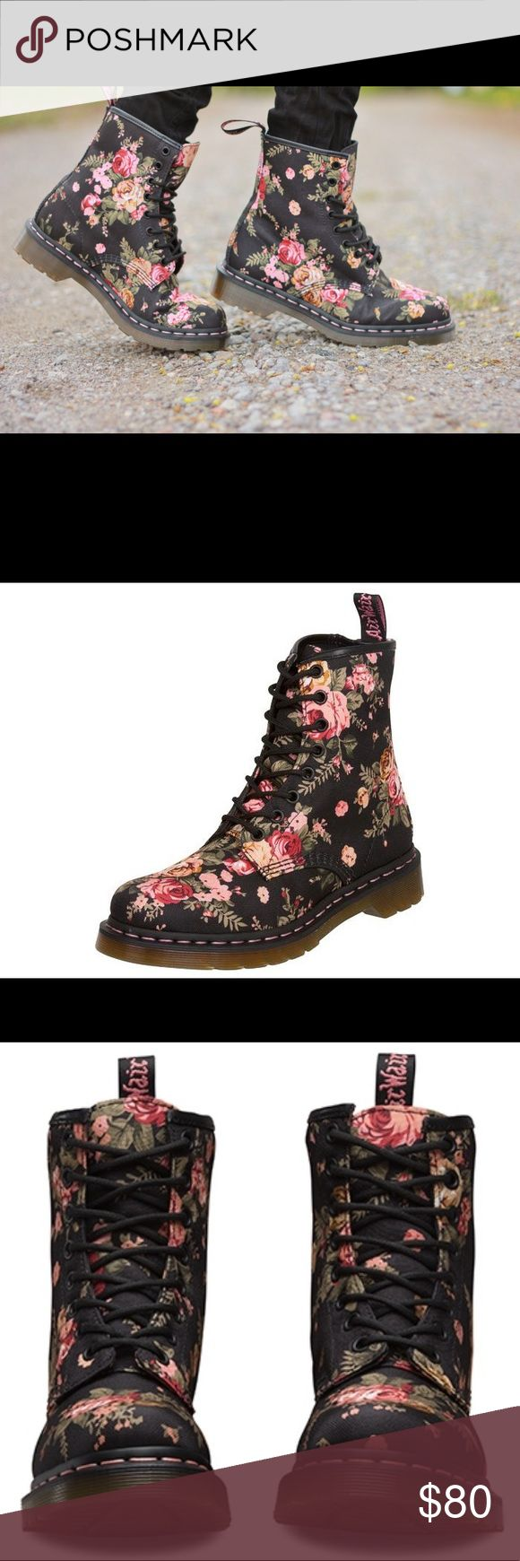 Floral Doc Martens Floral Doc Martens in beautiful condition! Dr. Martens Shoes