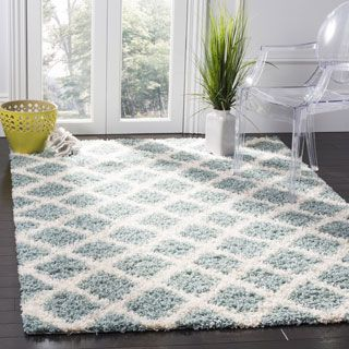 Shop for Safavieh Dallas Shag Light Blue/ Ivory Trellis Rug (8' x 10'). Get free shipping at Overstock.com - Your Online Home Decor Outlet Store! Get 5�0in rewards with Club O! - 18656952